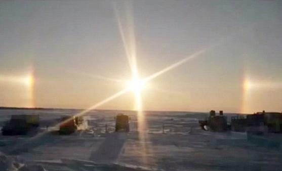 Ba mặt trời xuất hiện cùng lúc ở Nga – Chuyện lạ có thật.