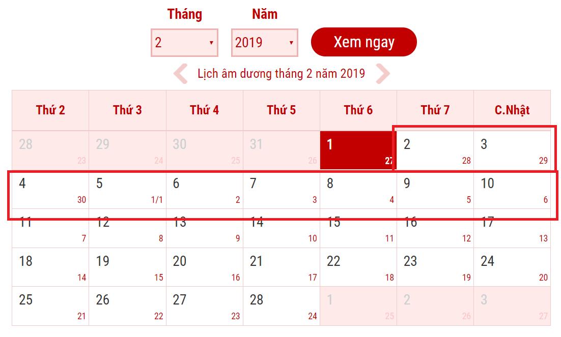 Tết Âm Lịch 2019  nghỉ 9 ngày đã được Thủ Tướng Chính Thức Phê Duyệt