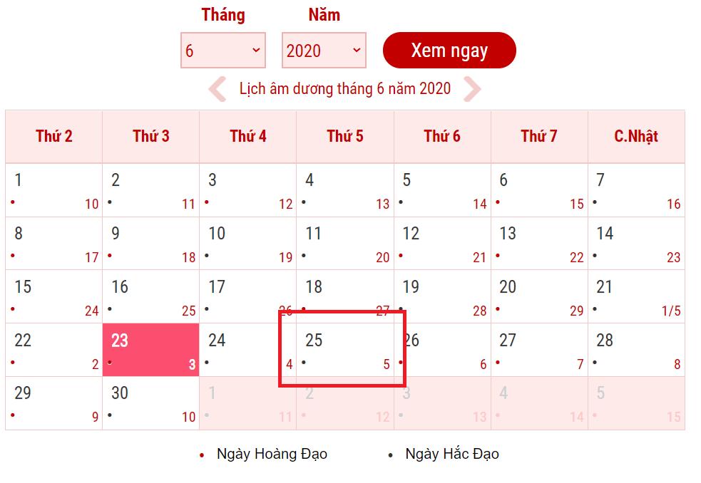 Tết Đoan Ngọ năm 2020 rơi vào ngày nào