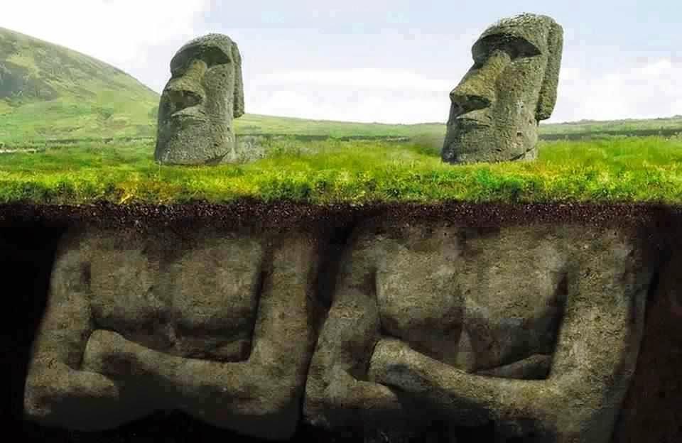 Tượng đá Moai trên đảo Phục Sinh